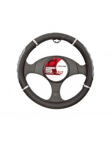 4CARS Potah volantu 37-39cm šedý